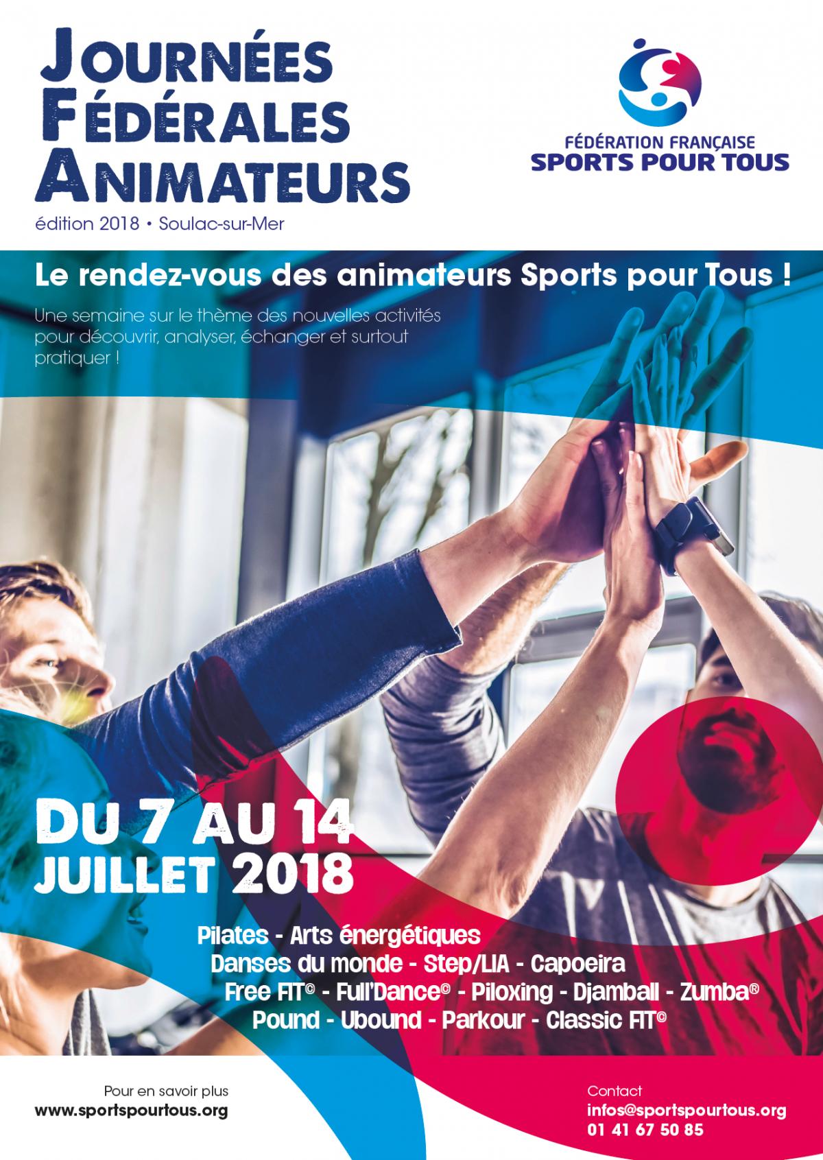 Les Journées Fédérales Animateurs – Le rendez-vous des animateurs Sports pour Tous !
