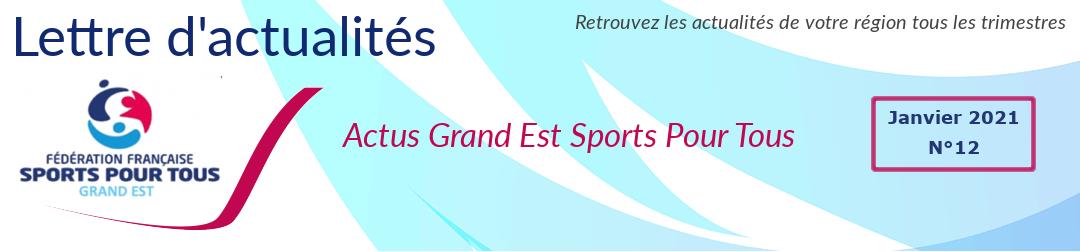 Bannière lettre info Sports pour tous Grand EST